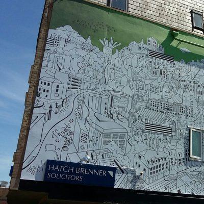 Hatch Brenner mural by Beverley Coraldean
