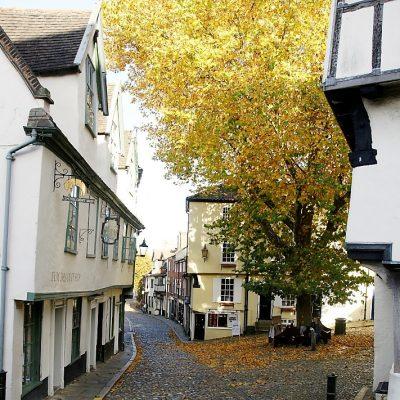 Autumn on Elm Hill, Norwich