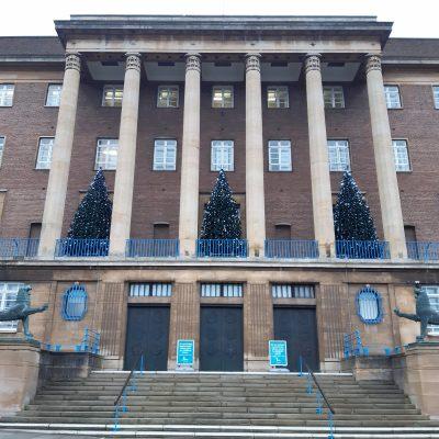 City Hall Christmas Trees