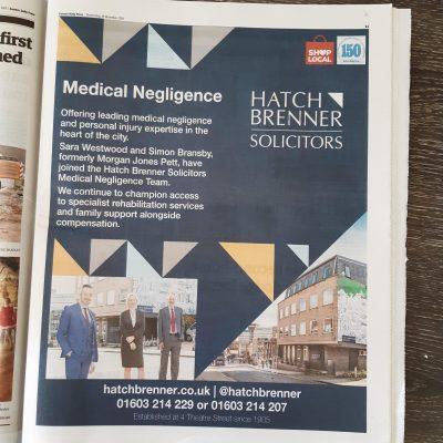 Hatch Brenner Medical Negligence EDP Ad