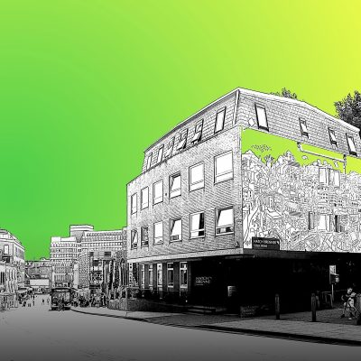 Hatch Brenner mural 4 Theatre Street fluorescent