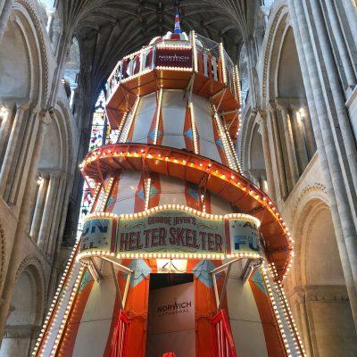 Norwich Cathedral Helter Skelter
