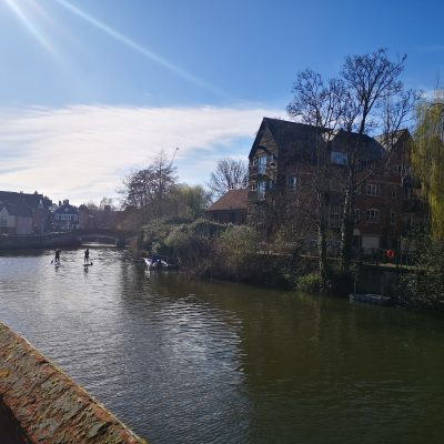 Paddleboarding on the River Wensum in the heart of Norwich