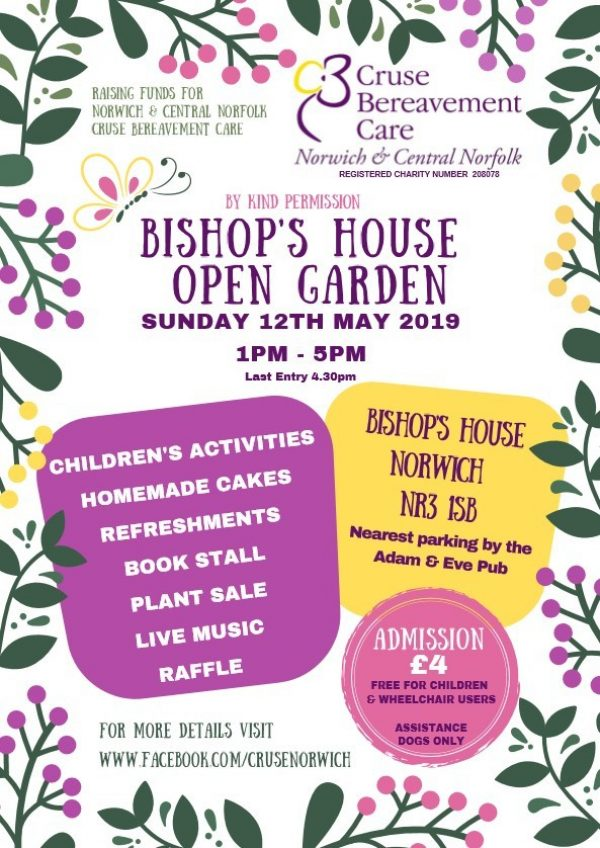 Bishops House Open Garden Cruse Norwich
