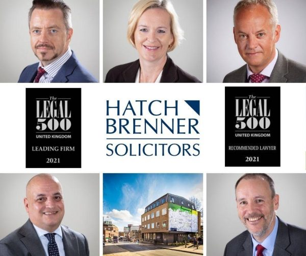 Hatch Brenner Solicitors is a Legal 500 UK Leading Firm 2021