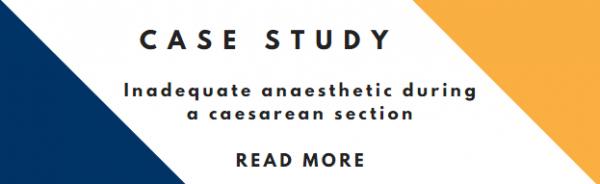 Inadequate anaesthetic during a caesarean
