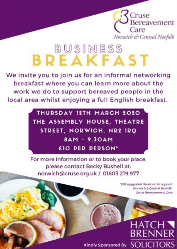 Cruse Business Breakfast Invite 2020
